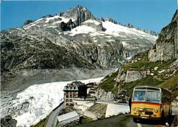 Belvedere Am Furkapass Mit Dem Rhonegletscher Und Nägelisgrätli (5701) - Postautobus - VS Valais