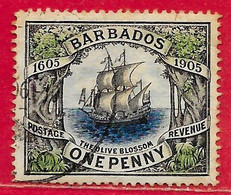 Barbade N°83 1p Galion Voilier 1906 O - Barbados (...-1966)