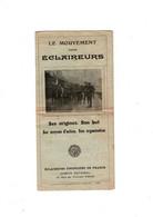 Dépliant En 3 Volets Mouvement Des éclaireurs - Scoutisme