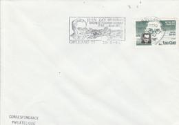 1 ER JOUR FLAMME JEAN ZAY ORLEANS 1984 - Mechanical Postmarks (Advertisement)