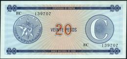♛ CUBA - 20 Pesos Nd. {Foreign Exchange Certificates} UNC P. FX23 - Cuba