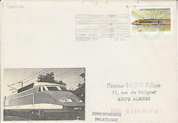 1 ER JOUR FLAMME 1 ERE LIAISON TGV PARIS-LYON VIA MACON 1984 - Mechanical Postmarks (Advertisement)