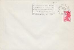 1 ER JOUR FLAMME FOIRE AUX PUCES VERNEUIL EN BOURBONNAIS SAINT POURCAIN SUR SIOULE ALLIER 1984 - Mechanical Postmarks (Advertisement)