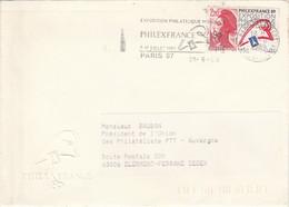 1 ER JOUR FLAMME PHILEXFRANCE 89 - Mechanical Postmarks (Advertisement)