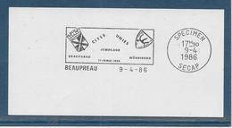 Département Du Maine Et Loire - Beaupreau - Flamme Secap SPECIMEN - Mechanical Postmarks (Advertisement)