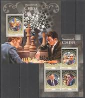 ST378 2016 SIERRA LEONE SPORT CHAMPIONS OF CHESS KB+BL MNH - Chess