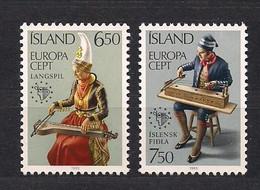 Cept 1985 Islande IJsland Yvertn° 585-586 *** MNH Cote 5 € Musique Muziek - Ohne Zuordnung