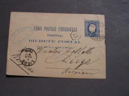 Portuhgal Alte Karte 1888 Liege - Enteros Postales