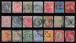 Grande-Bretagne Colonies D'Amérique Centrale Diverses Classiques Lot De 21 Tp 186x-191x O - Other