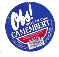 ETIQUETTE De FROMAGE.. CAMEMBERT ( Calvados 14-E).. Obs !.. BESNIER - Käse