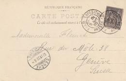 France Cachet Paris Exposition Presse Sur Carte Postale 1900 - 1877-1920: Periodo Semi Moderno