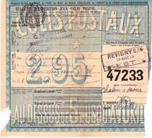 Bulletin D'expédition De Colis Postal Des Ets Desoutter à Maison-du-Val (Meuse), à Chalon-sur-Saône (1922) - Ohne Zuordnung