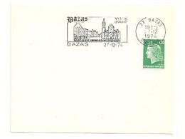 GIRONDE - Dépt N° 33 = BAZAS 1974 =  FLAMME Type II = SECAP Illustrée ' VILLE D' ART / Tourisme - Gastronomie ' - Mechanical Postmarks (Advertisement)