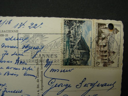 Flamme. 16. Cannes Charmes Méditerranée 1956. Sur CP Brasserie Alsacienne - Mechanical Postmarks (Advertisement)