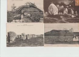 DOLMEN Et MENHIR -    LOT De 20 Cartes Anciennes Differentes  De DOLMENS Et MENHIRS Sur  CARNAC ,dont Animées - Dolmen & Menhirs
