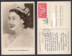 Ansichtskarte Königskrönung Elisabeth II. Von England Sektkell.Deinhard Koblenz - Sin Clasificación
