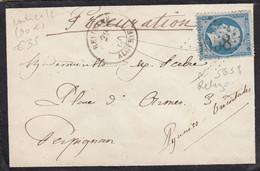 LETTRE. 29 MAI 1866. ALGERIE ORAN RELIZANE. GC 5038. POUR PERPIGNAN. ARRIVEE 3 JUIN - 1849-1876: Periodo Clásico