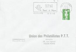 1 ER JOUR FLAMME LES CONCERTS DE VALOGNES MANCHE 1993 - Mechanical Postmarks (Advertisement)