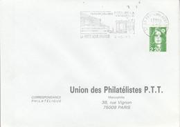 1 ER JOUR FLAMME FETE DE LA MUSIQUE à LA FERTE SOUS JOUARRE SEINE ET MARNE 1993 - Mechanical Postmarks (Advertisement)