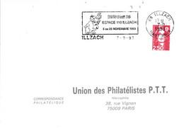 1 ER JOUR FLAMME BD CINE 93 à ILLZACH HAUT RHIN - Mechanical Postmarks (Advertisement)