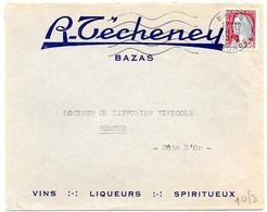 GIRONDE - Dépt N° 33 = BAZAS 1962 = FLAMME Non Codée = SECAP Muette '5 Lignes Ondulées' + En-tête TECHENEY - Mechanical Postmarks (Advertisement)