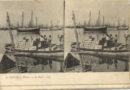 Carte Stereo GRECE  Patras Le Port Recto Verso - Griekenland