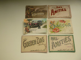 Beau Lot De 20 Cartes Postales De Fantaisie  Bonjour  Souvenir  Pensée      Mooi Lot 20 Postkaarten Van Fantasie Groeten - 5 - 99 Cartoline