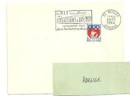 GIRONDE - Dépt N° 33 = BEGLES 1966 =  FLAMME Codée = SECAP Multiple ' Les PTT Vous Offrent SITUATIONS ... - Mechanical Postmarks (Advertisement)