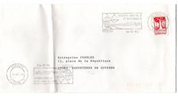 GIRONDE - Dépt N° 33 = BEGLES 1992 =  FLAMME Type II = SECAP Illustrée CARRELET ' VILLE + FLEUVE  ' - Mechanical Postmarks (Advertisement)