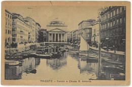 CPA TRIESTE - Canale E Chiesa S. Antonio - Trieste