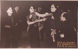 Cartolina - Rina De Liguoro - Ely Sambucini In ( La Via Del Peccato ) - 1920 Ca. - Sonstige