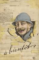 Militaria PERMISSION DE .........JOURS  à Bientot  Recto Verso - Humor