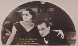 Cartolina - Cinema Muto - Rina De Liguoro E Lido Manetti - 1920 Ca. - Sonstige