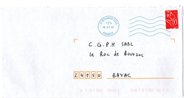 GIRONDE - Dépt N° 33 = BIGANOS CDIS 2007 =  FLAMME BLEUE Codée à DROITE = SECAP Muette '5 Lignes Ondulées' - Mechanical Postmarks (Advertisement)