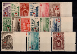 Monaco - YV 200 à 214 N** Luxe Complete Croix Rouge Cote 410 Euros - Unused Stamps
