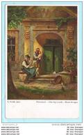 DEUTSCHES REICH Postkarte Postcard AK Brief - I. Frank Gemälde Feierabend - Sonthofen Nach ? (2 Scan)(71001) - Briefe U. Dokumente