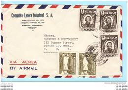 PERU Brief Cover Lettre --- Compania Lanera Industrial S.A. --- To USA (16477) - Perù