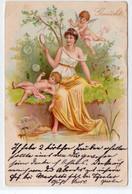 DC4720 - Sehr Schöne Motivkarte, Junge Dame Mit Engel, Seifenblasen 1900 - Angeli