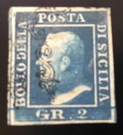 1859 - SICILIA - 2 GRANA - 8b - US. - SIGNED - SPL - EURO 250,00 - Sicile