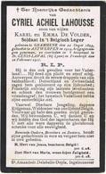 INGELMUNSTER  - GRAMMENE  - SAINT-GENIS-VAL (Lyon )- CYRIEL ACHIEL LAHOUSSE  - OOLOGSLACHTOFFER + 1914 - Religion & Esotericism