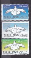 Stamps SUDAN 2005 SC 570 572 PEACE MNH SET CV$15 # 38 - Soedan (1954-...)