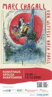 BRD Apolda Eintrittskarte 2020 Marc Chagall Von Witebsk Nach Paris Kunsthaus Avantgarde - Tickets - Vouchers