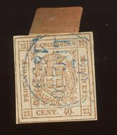 Modene 1859, Gouvernement Provisoire,  10 Ø, Cote 750 €,  Sans Garantie Pour L'oblitération - Modena