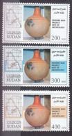 Stamps SUDAN 2005 SC 585 587 MEROWE DAM ARCHAEOLOGY MNH SET CV$12 # 39 - Sudan (1954-...)