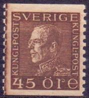 Zweden 1921 45öre Gustaf V Donkerbruin PF-MNH - Unused Stamps