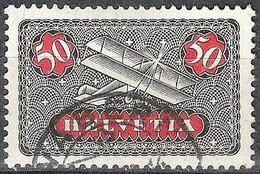 Schweiz Suisse 1923: Doppeldecker / Biplane Zu Fl 9y Mi 184x Yv PA 9 Glatt / Lisse Mit Stempel WABERN (Zu CHF 35.00) - Usados