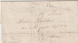 """VERSAILLES - MARQUE LINEAIRE  + CACHET """" College Du  ROY """"  Au Verso - 1827 - 1801-1848: Precursors XIX"""