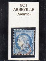 Somme - N° 60A (ld) Obl GC 1 Abbeville - 1871-1875 Cérès