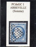 Somme - N° 60C Obl PCduGC 1 Abbeville - 1871-1875 Cérès