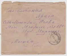 TCHÉCOSLOVAQUIE PRAHA LETTRE 10 SEPTEMBRE 1923 → MOSKVA, RUSKO MOSCOU RUSSIE МОСКВА, РОССИЯ MOSCOW RUSSIA - Czechoslovakia